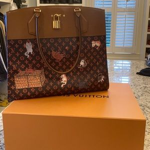 Louis Vuitton Grace Coddington steamer XXL bag